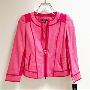 DKNY Ultra Pink Jacket Lined Zip Front Exquisite!